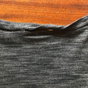 Lululemon Tops - Lululemon Heather Gray V-Neck Athletic Top XS